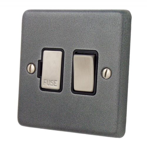 G&H CP357 Standard Plate Pewter 1 Gang Fused Spur 13A Switched